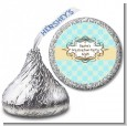 Aqua & Yellow - Hershey Kiss Graduation Party Sticker Labels thumbnail
