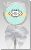 Aqua & Yellow - Personalized Graduation Party Lollipop Favors