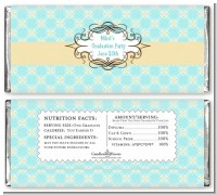 Aqua & Yellow - Personalized Graduation Party Candy Bar Wrappers