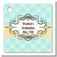 Aqua & Yellow - Personalized Graduation Party Card Stock Favor Tags thumbnail
