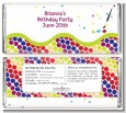 Paint Party - Personalized Birthday Party Candy Bar Wrappers thumbnail
