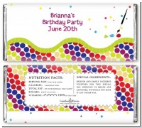 Paint Party - Personalized Birthday Party Candy Bar Wrappers