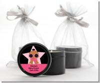 A Star Is Born Hollywood Black|Pink - Baby Shower Black Candle Tin Favors