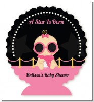 A Star Is Born Hollywood Black|Pink - Personalized Baby Shower Centerpiece Stand