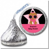 A Star Is Born Hollywood Black|Pink - Hershey Kiss Baby Shower Sticker Labels