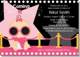 A Star Is Born Hollywood Black|Pink - Baby Shower Invitations