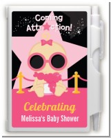 A Star Is Born Hollywood Black|Pink - Baby Shower Personalized Notebook Favor