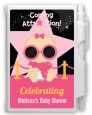A Star Is Born Hollywood Black|Pink - Baby Shower Personalized Notebook Favor thumbnail