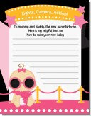 A Star Is Born Hollywood Black|Pink - Baby Shower Notes of Advice
