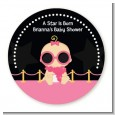 A Star Is Born Hollywood Black|Pink - Personalized Baby Shower Table Confetti thumbnail