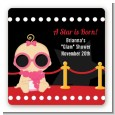 A Star Is Born Hollywood - Square Personalized Baby Shower Sticker Labels thumbnail