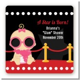 A Star Is Born Hollywood - Square Personalized Baby Shower Sticker Labels