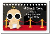 A Star Is Born Hollywood - Baby Shower Landscape Sticker/Labels