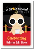 A Star Is Born Hollywood - Custom Large Rectangle Baby Shower Sticker/Labels