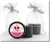 A Star Is Born Hollywood White|Pink - Baby Shower Black Candle Tin Favors