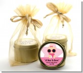 A Star Is Born Hollywood White|Pink - Baby Shower Gold Tin Candle Favors