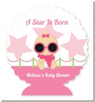 A Star Is Born Hollywood White|Pink - Personalized Baby Shower Centerpiece Stand