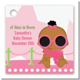 A Star Is Born Hollywood White|Pink - Personalized Baby Shower Card Stock Favor Tags