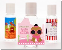 A Star Is Born Hollywood White|Pink - Personalized Baby Shower Hand Sanitizers Favors