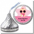 A Star Is Born Hollywood White|Pink - Hershey Kiss Baby Shower Sticker Labels thumbnail