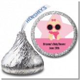 A Star Is Born Hollywood White|Pink - Hershey Kiss Baby Shower Sticker Labels