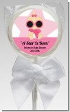 A Star Is Born Hollywood White|Pink - Personalized Baby Shower Lollipop Favors