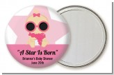 A Star Is Born Hollywood White|Pink - Personalized Baby Shower Pocket Mirror Favors