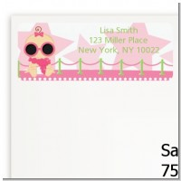 A Star Is Born Hollywood White|Pink - Baby Shower Return Address Labels