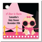 A Star Is Born Hollywood Black|Pink - Personalized Baby Shower Card Stock Favor Tags
