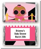 A Star Is Born Hollywood Black|Pink - Personalized Baby Shower Mini Candy Bar Wrappers