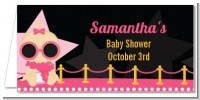 A Star Is Born Hollywood Black|Pink - Personalized Baby Shower Place Cards