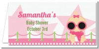 A Star Is Born Hollywood White|Pink - Personalized Baby Shower Place Cards