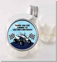 ATV 4 Wheeler Quad - Personalized Birthday Party Candy Jar