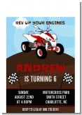 ATV 4 Wheeler Quad - Birthday Party Petite Invitations