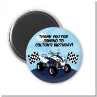 ATV 4 Wheeler Quad - Personalized Birthday Party Magnet Favors