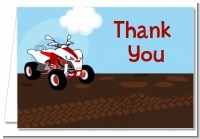 ATV 4 Wheeler Quad - Birthday Party Thank You Cards