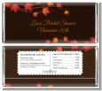 Autumn Leaves - Personalized Bridal Shower Candy Bar Wrappers thumbnail