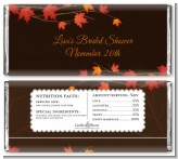Autumn Leaves - Personalized Bridal Shower Candy Bar Wrappers