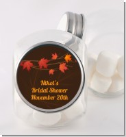Autumn Leaves - Personalized Bridal Shower Candy Jar