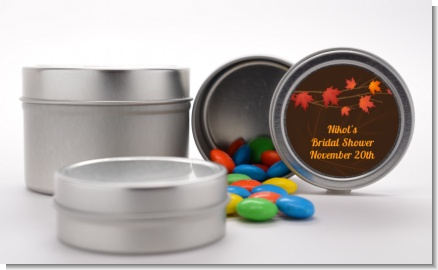 Autumn Leaves - Custom Bridal Shower Favor Tins