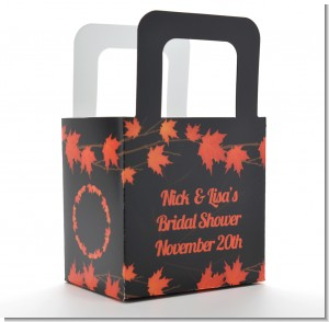 Autumn Leaves - Personalized Bridal Shower Favor Boxes