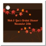 Autumn Leaves - Personalized Bridal Shower Card Stock Favor Tags