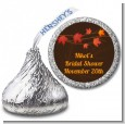 Autumn Leaves - Hershey Kiss Bridal Shower Sticker Labels thumbnail