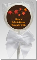 Autumn Leaves - Personalized Bridal Shower Lollipop Favors