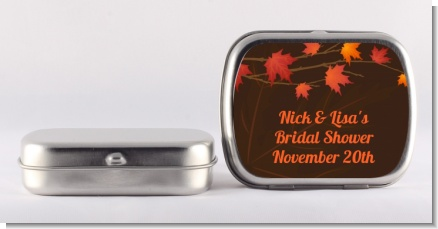 Autumn Leaves - Personalized Bridal Shower Mint Tins