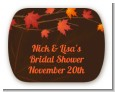 Autumn Leaves - Personalized Bridal Shower Rounded Corner Stickers thumbnail