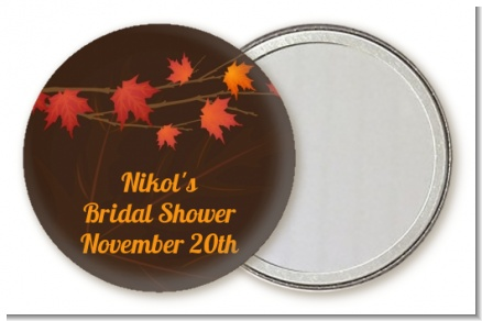 Autumn Leaves - Personalized Bridal Shower Pocket Mirror Favors