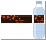 Autumn Leaves - Personalized Bridal Shower Water Bottle Labels