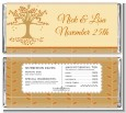 Autumn Tree - Personalized Bridal Shower Candy Bar Wrappers thumbnail