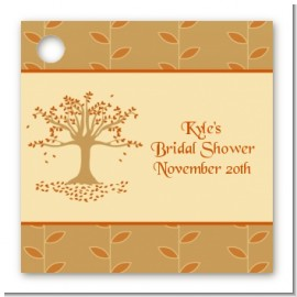 Autumn Tree - Personalized Bridal | Wedding Card Stock Favor Tags